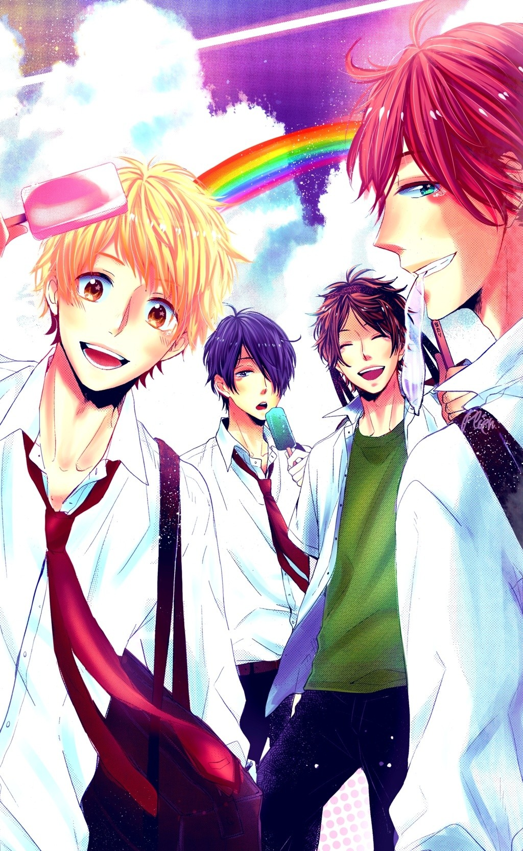 Nijiiro Days Manga, a shoujo romance manga starring Guys