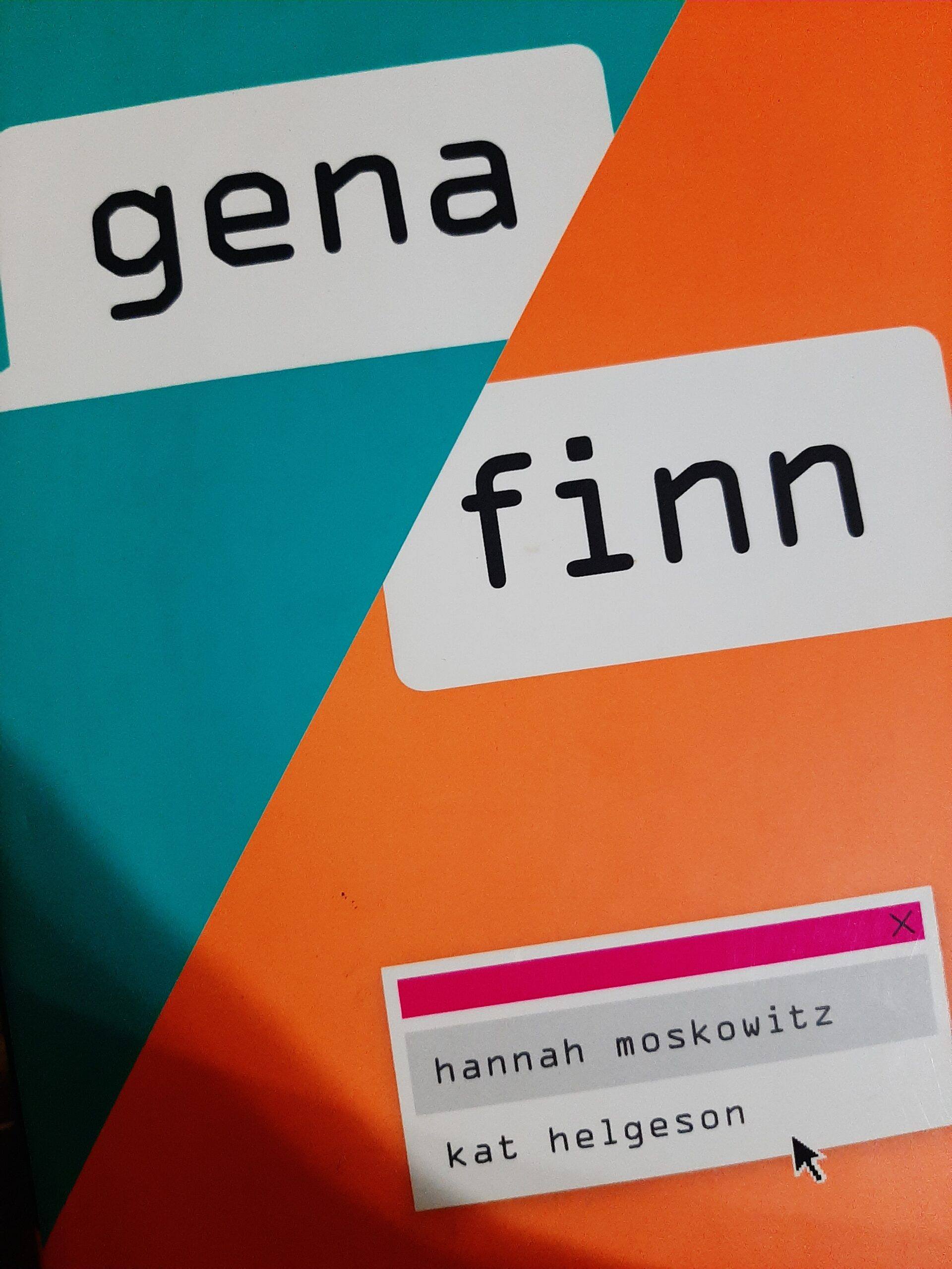 Gena/Finn Book Review, I really enjoyed reading this one
